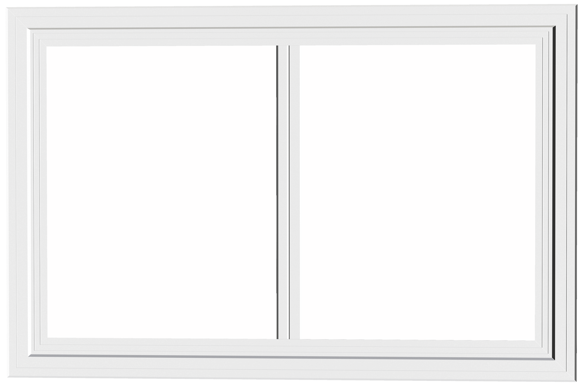 Fenêtre coulissante simple en PVC   Fenêtres ALLSCO